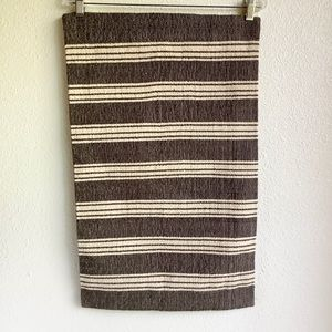 Pottery Barn Farmhouse Stripe Pillow Cover Brown